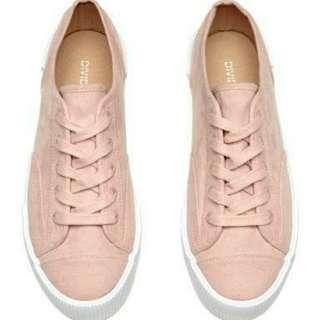 H&M Platform Sneakers in Blush Pink