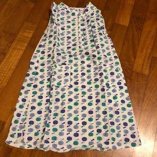 2-3T NEW Apple print straight dress flutter sleeve