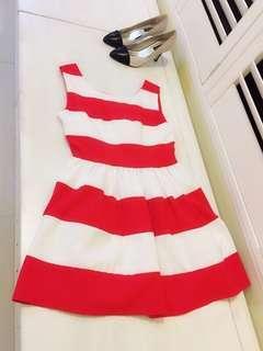 🚚 我的小巴黎 法國🇫🇷紅條紋洋裝 顯膚色白 Street Chic   正式場合 休閒百搭