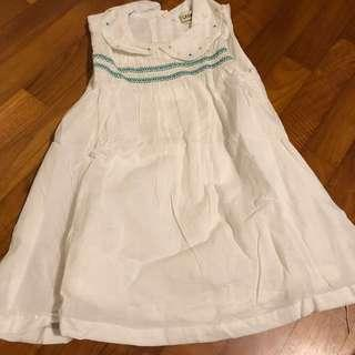 3-4T NEW Lesvrier White Dress with Embroidery