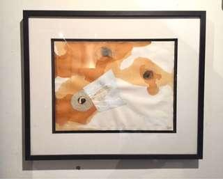 Abstract Composition Mixed Media Work on Paper; American c. 95.
