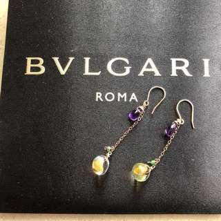 14K Gold Filigree with real amethyst and glass beads