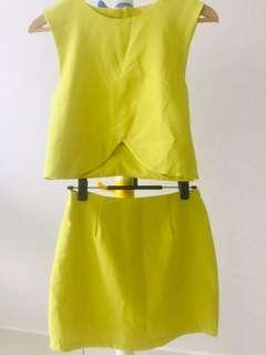 Yellow Top with skirt