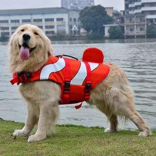 Almost New Dog Life Vest Floating Swimming Nemo Size S &M