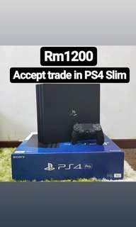 [In Warranty] PS4 Pro 1TB Used Black
