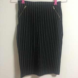 TEMT miss Valley Stripes Pencil Skirt