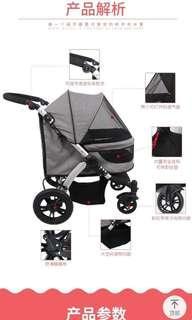 🚚 Pre-order Dodopet Large Stroller Up To 40KG