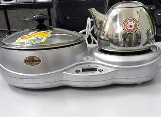 Electric cooker and water boiler .