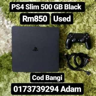 PS4 Slim 500GB Black Used