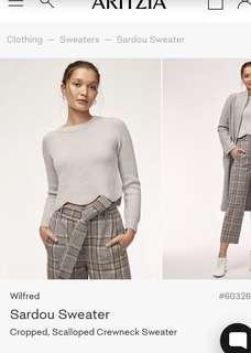 BNWT Aritzia Sardou Sweater Grey Size XXS