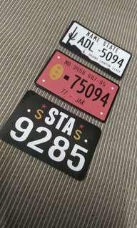 Car Plate Set B