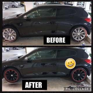 Plasti dip and rim bomb
