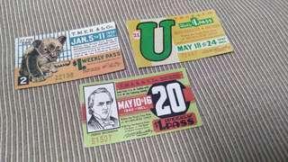 Vintage Tickets Set B