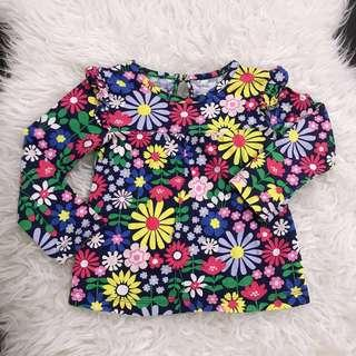Floral Top Floral Top carters long sleeve uniqlo cotton on gap ruffle longsleeve