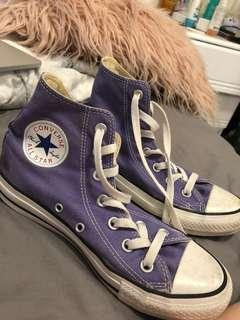 Purple Authentic High Top Converse