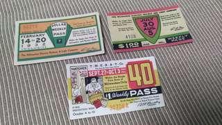 Vintage Tickets Set E