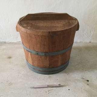 Old teakwood bucket