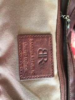 Geniune leather BANANA REPUBLIC