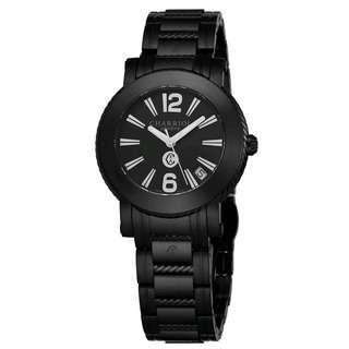 Authentic Charriol Parisi Black Dial Stainless Steel Quartz Date Watch P33BM.P33BM.010