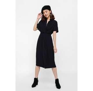 Love Bonito Lyuro Twist Front Midi Dress