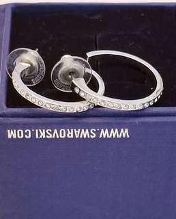 Authentic Swarovski Hoop Earrings- includes box