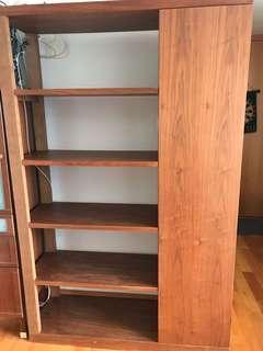 Book shelf with one door