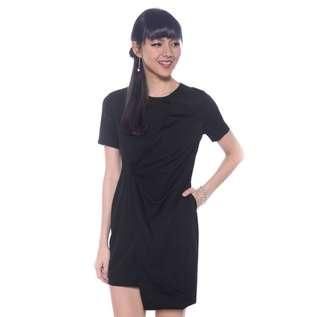 🚚 Love Bonito Olivette Foldover Dress – Black