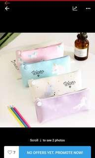 Unicorn pencil case and cosmetic pounch