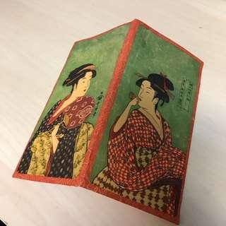 🚚 全新 京都 友禪染 錢包皮夾 紙製 含日本紙一疊 10*19公分