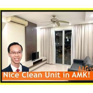 Spacious 3-Bedroom+Study. Grandeur-8. 10 mins to Ang Mo Kio MRT.