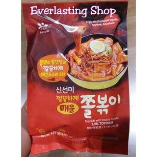 Jjol Topokki Shin Sun Mi with Chewy Noodle Mie Bumbu Tteokbokki Tteok Tteokpokki Yopokki Korean Rice Cake
