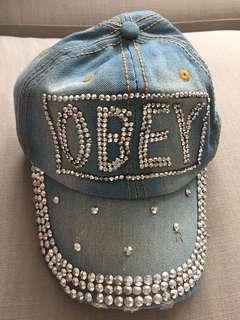 Bling bling jeans cap