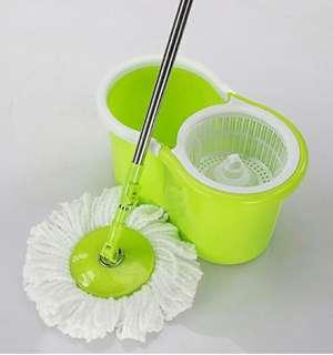Stainless steel double drive rotary mop Mop bucket rotating drag - international