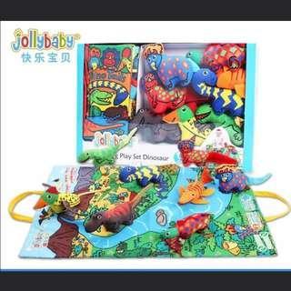 🚚 Jollybaby sensory set  - tail books, sensory cloth toys n playmat