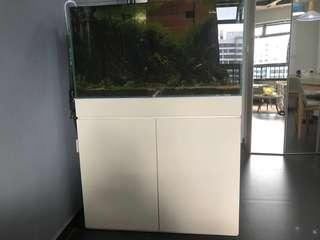 3ft Crystal Fish Tank and Cabinet
