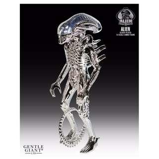 Gentle Giant ALIEN JUMBO SILVER PLATED 35TH ANNIVERSARY 24 INCH FIGURE (SILVER) BNIB Sealed Limited Edition 79 Pieces SOLD OUT