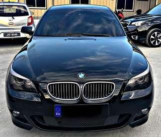 SEWA BELI  BMW E60 SE 523i LCI YEAR 2008 MONTHLY RM 1700 BALANCE 4 YEARS 10 MONTHS ROADTAX JULY 2019 ELECTRONIC LEATHER SEAT PUSH START BUTTON EAGLE EYE LAMP TIPTOP CONDITION  DP KLIK wasap.my/60133524312/e60se