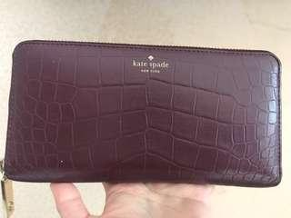 Kate Spade Wallet GOOD DEAL crocs leather (+care card)