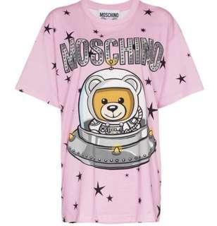 Moschino space bear pink tee