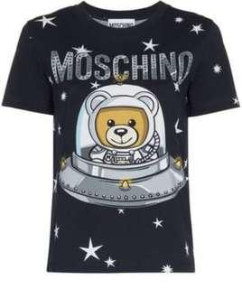 Moschino black space bear tee