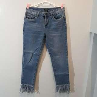 Forever 21 Fringe Highwaist Jeans