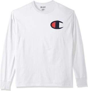 Champion Logo Long Sleeve T shirt/Pullover