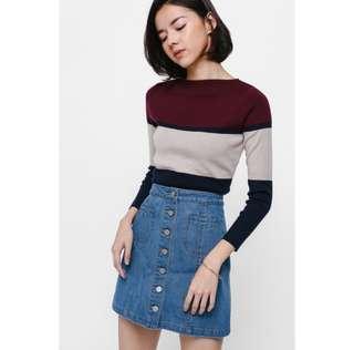 Love Bonito Tadia Colourblock Knit Top
