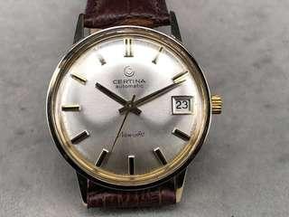 古董 Certina 雪鐵納K金自動手錶, 1960年代