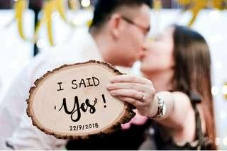 He asked | She said yes | I said Yes | Proposal Props | Customize Proposal Props | Marriage Proposal Props | Engagement Wood Sign