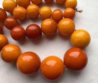 Antique amber necklace 83gr