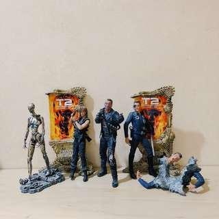 Mcfarlane Movie Maniacs Terminator action figure set of 4