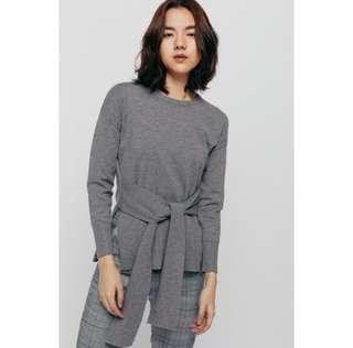 BNWT Love Bonito Swagan Sash Asymmetrical Knit Sweater