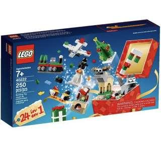 LEGO Christmas Build-Up 24-in-1 Set 40222