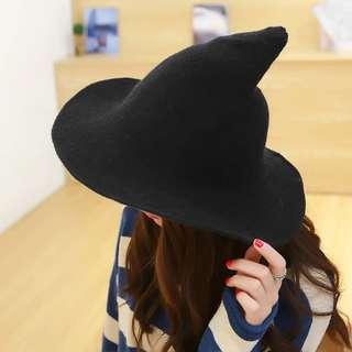 Wool Pointy Witch Hat